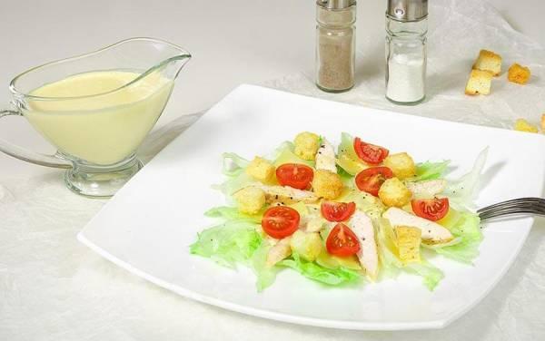 Sezar salati - resepti, tayyorlash tartibi