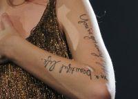Bir marta Teylor Svift sahnaga Selena Gomez qo'shig'idan bir qatorni o'z ichiga olgan vaqtinchalik tatuirovka bilan kirdi