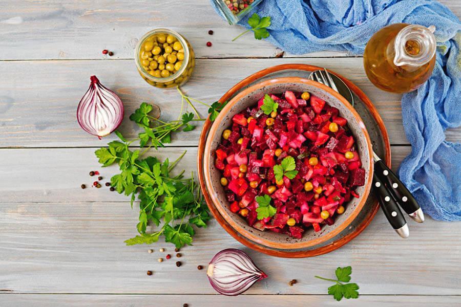 Vinegret salati tayyorlash - retsepti, bosqichlari