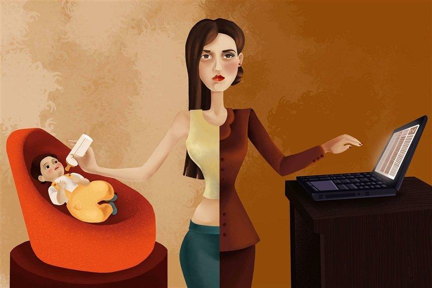 Работающая мать в декрете
